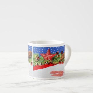 Espressotasse glad Christmas holidays