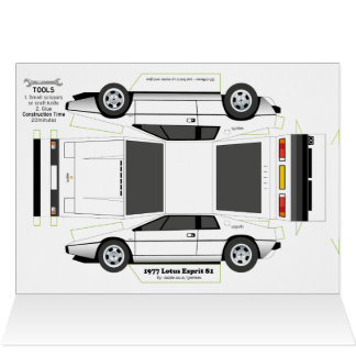 Esprit Classic Car Greetings Card