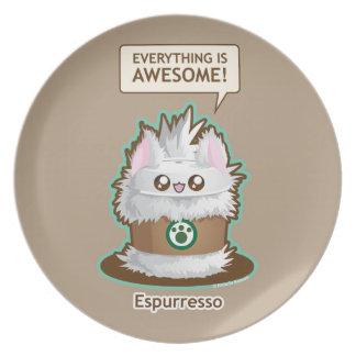Espurresso: Cute Espresso Coffee Kitty Plate