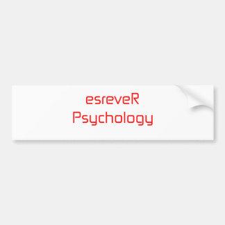 esreveRPsychology orange pink red Bumper Sticker