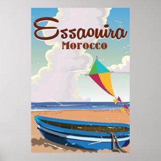 Essaouira Morocco Vintage travel poster print