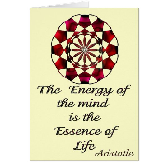 *Essence of Life* -Aristotle Quote Card