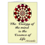 *Essence of Life* -Aristotle Quote Greeting Card