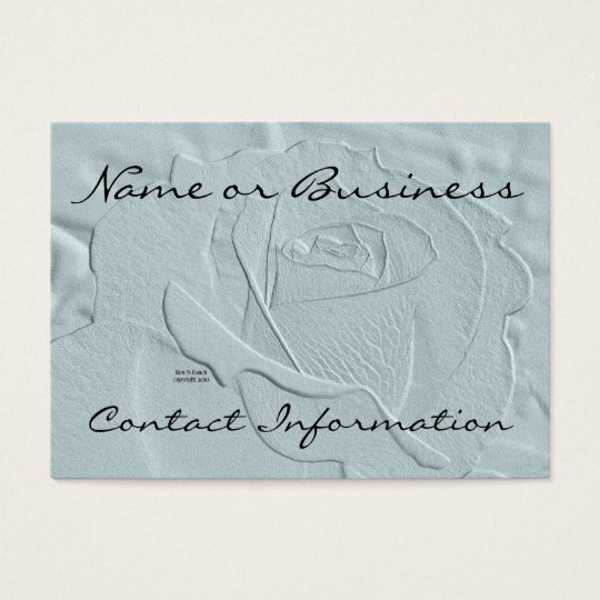 Essence of  Rose: Blue Green Business Card