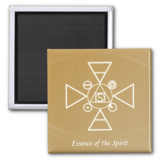 Essence of the Spirit Square Magnet
