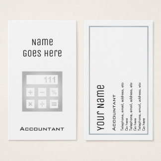 """Essential"" Accountant Business Cards"