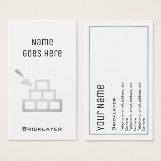 """Essential"" Bricklayer Business Cards"