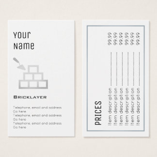"""Essential"" Bricklayer Price Cards"