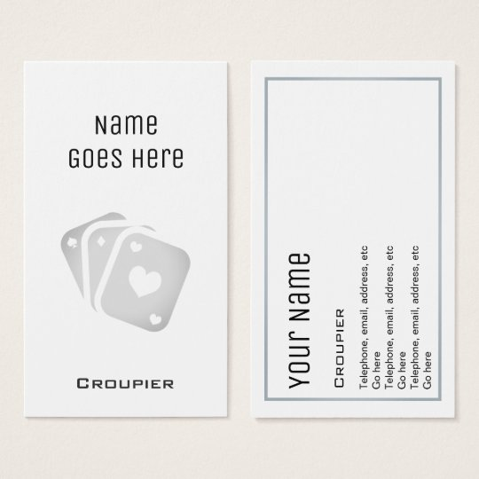 """Essential"" Croupier Business Cards"