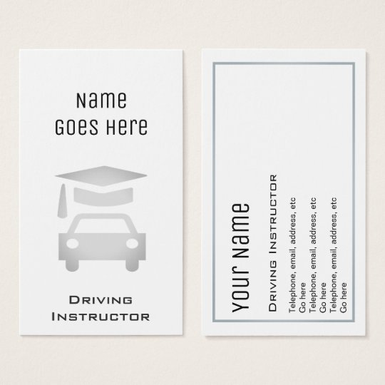 """""""Essential"""" Driving Instructor Business Cards"""