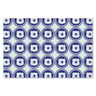 Essential • First Responder Blue Police Badge Tissue Paper