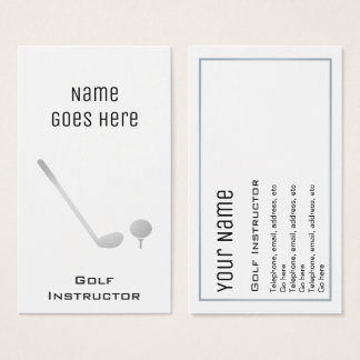 """Essential"" Golf Professional Business Cards"
