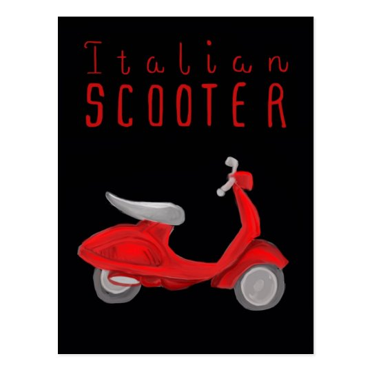 Essential Italy Postcard - Italian Scooter