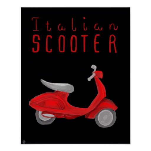 Essential Italy Poster - Italian Scooter