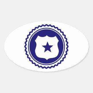 Essential • Law Enforcement Oval Sticker