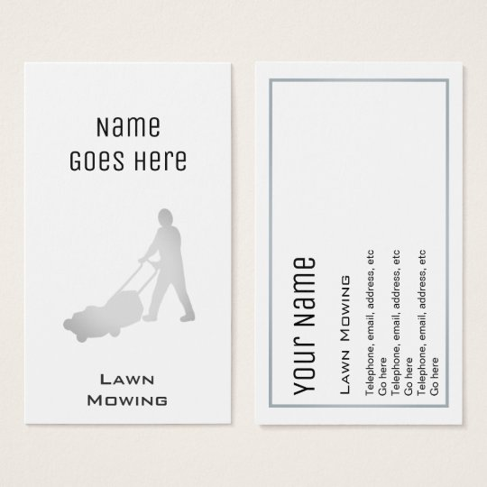 """""""Essential"""" Lawn Care Business Cards"""