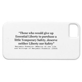 Essential Liberty and Temporary Safety Franklin iPhone 5 Cover