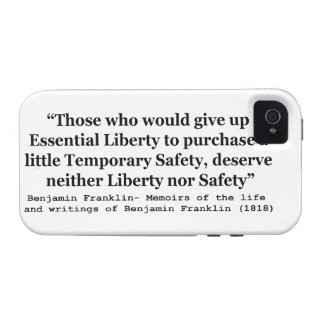 Essential Liberty and Temporary Safety Franklin iPhone 4/4S Cover