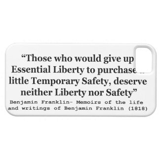 Essential Liberty and Temporary Safety Franklin iPhone 5 Covers