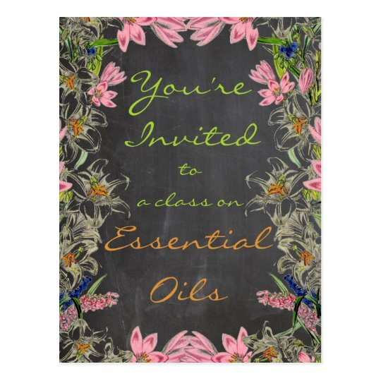 Essential Oil Class Invitation Postcard