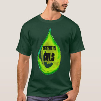 Essential Oils Green drop bold T-Shirt