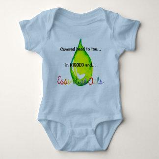 Essential Oils head to toe green drop Baby Bodysuit