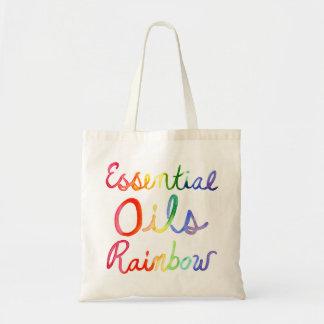 Essential Oils Rainbow Tote Bag