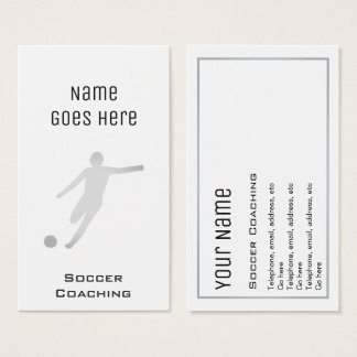 """Essential"" Soccer Coaching Business Cards"