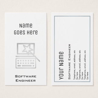 """Essential"" Software Engineer Business Cards"