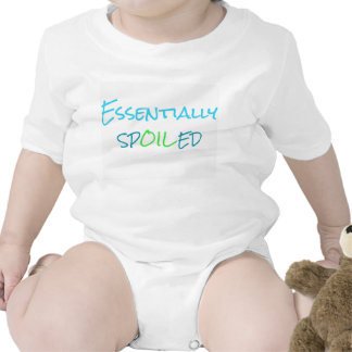 Essentially Spoiled Infant Outfit Blue Romper