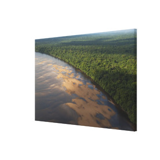 Essequibo River, longest river in Guyana, and 2 Canvas Print