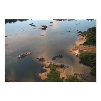 Essequibo River, longest river in Guyana, and 2 Photo Print