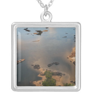 Essequibo River, longest river in Guyana, and 2 Silver Plated Necklace