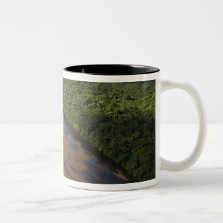 Essequibo River, longest river in Guyana, and 3 Two-Tone Coffee Mug