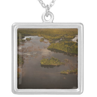 Essequibo River, longest river in Guyana, and 4 Silver Plated Necklace