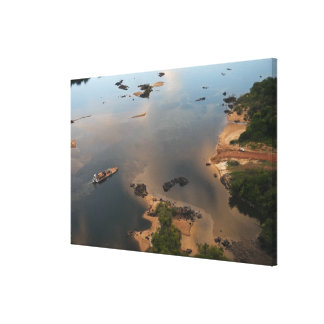 Essequibo River, longest river in Guyana, and Canvas Print