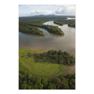 Essequibo River, longest river in Guyana, and Photo Print