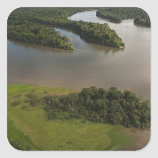 Essequibo River, longest river in Guyana, and Square Sticker