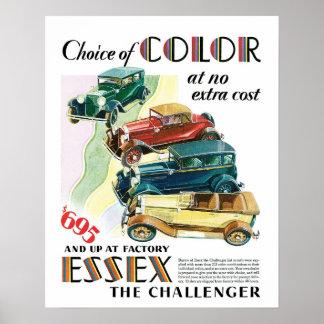 Essex Challenger Car Vintage Art Print Poster