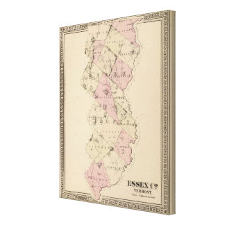 Essex County in Vermont Canvas Print