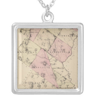 Essex County in Vermont Silver Plated Necklace