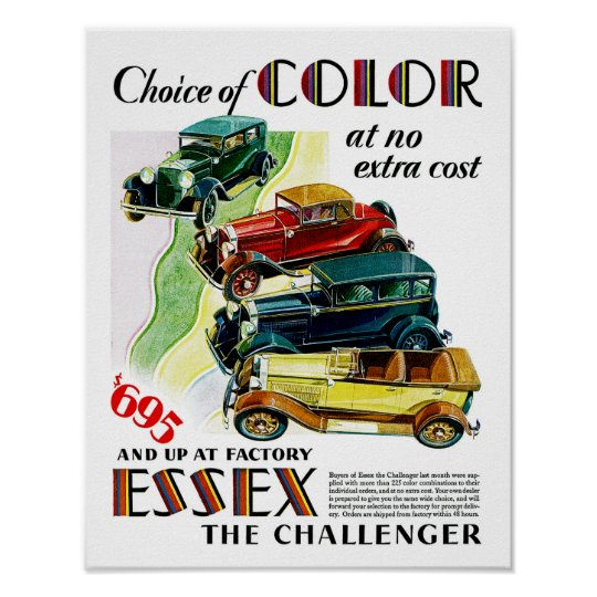Essex The Challenger Automobile Poster