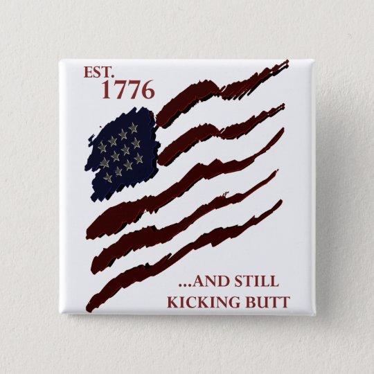 Est 1776 15 cm square badge