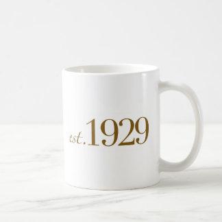Est 1929 basic white mug