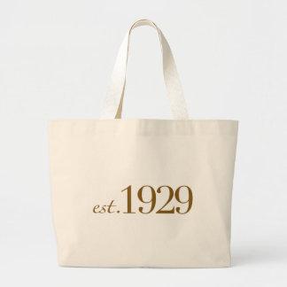 Est 1929 tote bags