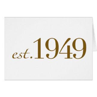Est 1949 card