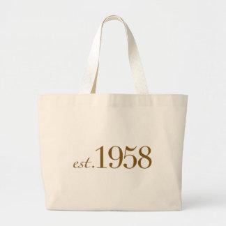 Est 1958 canvas bags