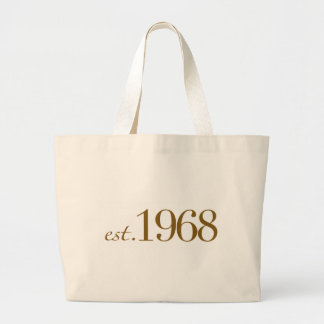 Est 1968 large tote bag