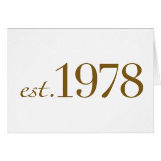 Est 1978 card