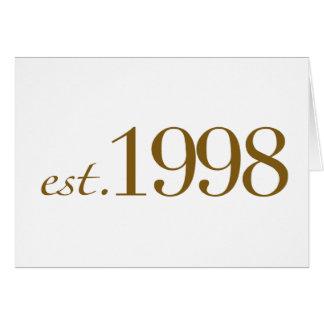 Est 1998 card